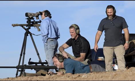 Mark Susad on the range
